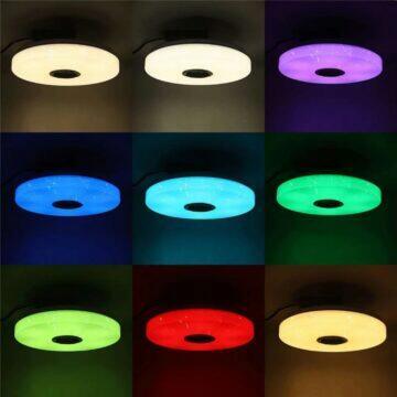 Kulaté stropní RGB světlo s reproduktorem barvy
