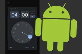 nové nastavování času Android ciferník manual