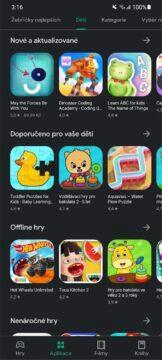 Obchod Play aplikace hry pro děti schváleno učitelem 4 výběr