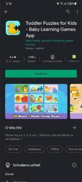 Obchod Play aplikace hry pro děti schváleno učitelem 5 odznak