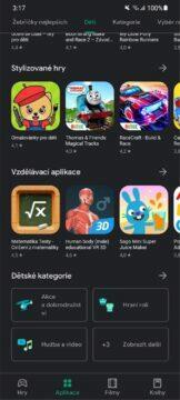 Obchod Play aplikace hry pro děti schváleno učitelem 6 kategorie
