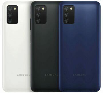 Samsung Galaxy A03s barvy