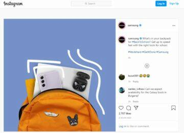 Samsung Galaxy S21 FE Instagram snímek