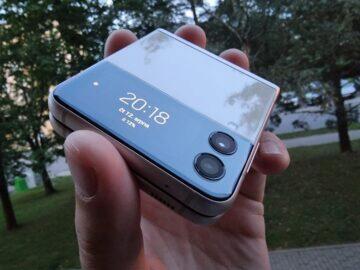 Samsung Galaxy Z Flip3 testování vnější displej