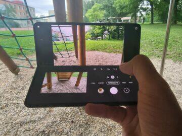 Samsung Galaxy Z Fold3 recenze foto vnitřní flex