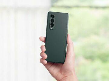Samsung Galaxy Z Fold3 zelená