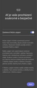 Samsung Internet 15 Režim utajení