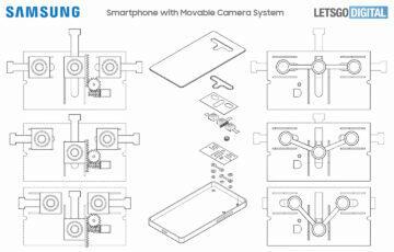 Samsung patent pohyblivé foťáky variabilní clona