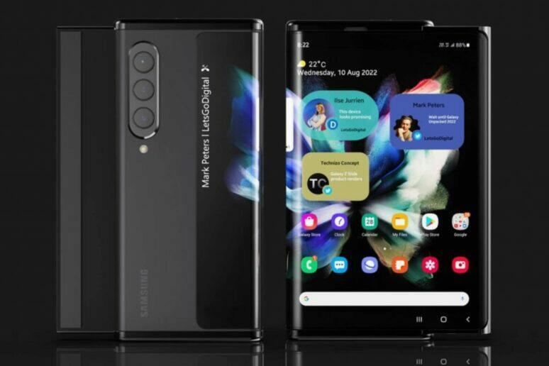 Samsung rolovací telefon patent
