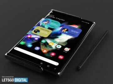 Samsung rolovací telefon patent displej S Pen