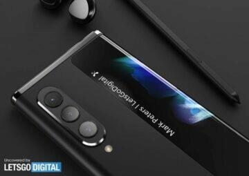 Samsung rolovací telefon patent fotoaparáty