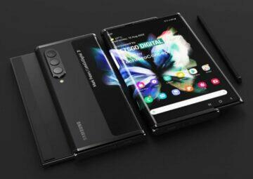 Samsung rolovací telefon patent přední zadní displej