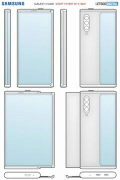 Samsung rolovací telefon patent výkres