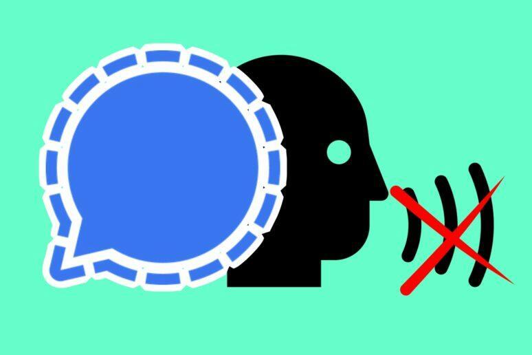 Signal omezení odesílání zpráv mluvení