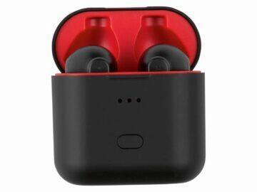 Silvercrest STSK 2 D4 bezdrátová Bluetooth TWS sluchátka LIDL pouzdro červená