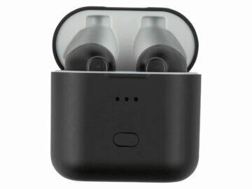 Silvercrest STSK 2 D4 bezdrátová Bluetooth TWS sluchátka LIDL pouzdro šedá