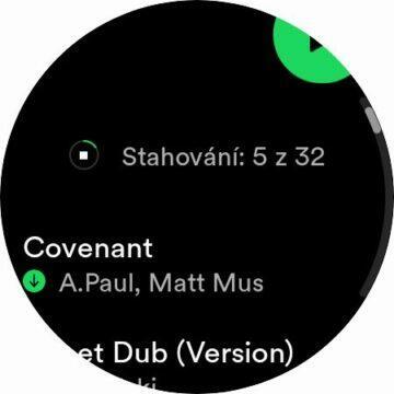 Spotify Wear OS stahování playlist