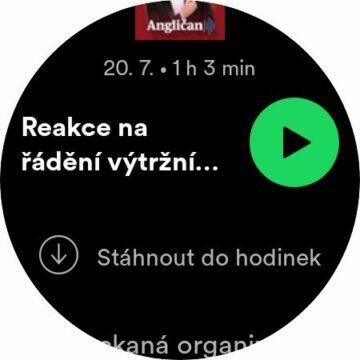 Spotify Wear OS stahování podcast epizoda