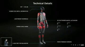 Tesla Bot Elon Musk robot asistent parametry