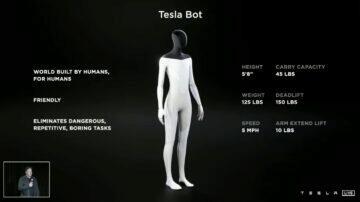 Tesla Bot Elon Musk robot asistent vlastnosti