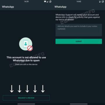 WhatsApp ban odvolání formulář