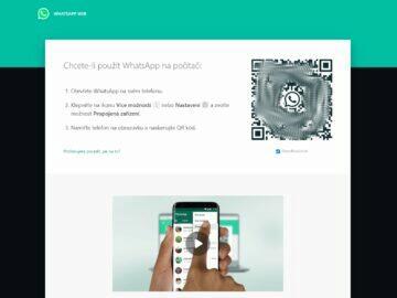 WhatsApp Web QR kód