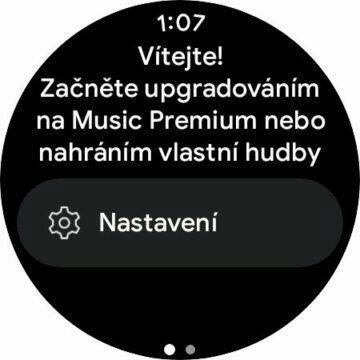 YouTube Music aplikace Wear OS hodinky uvítání
