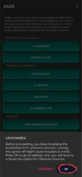 AAAD Android Auto Apps Downloader oprávnění 1