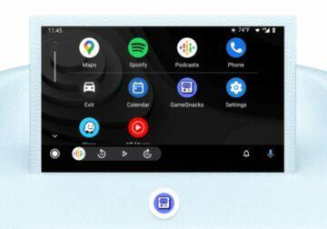 Android Auto hry GameSnacks zástupce