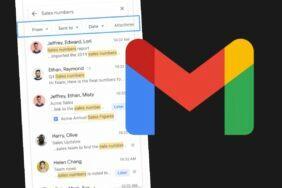 aplikace Gmail nové vyhledávací filtry