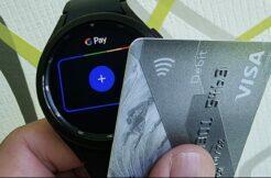 Galaxy Watch4 Wear OS Google Pay karta NFC platby