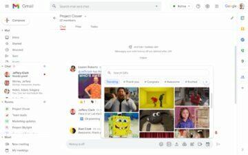 Google Chat Gify ukázka 2