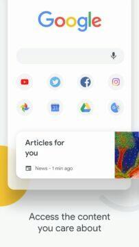 Google Chrome hlavní karta