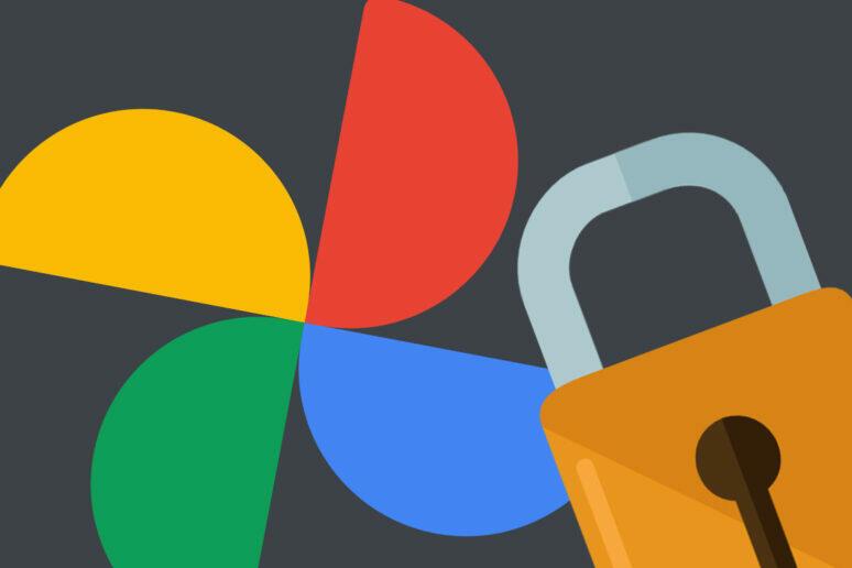 google fotky uzamčená složka
