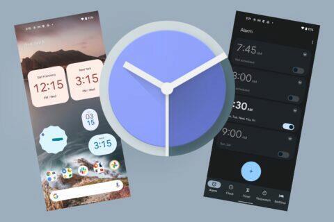 Google Hodiny Material You Android 12 widgety