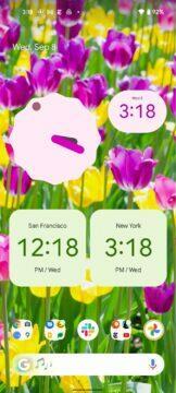 Google Hodiny Material You Android 12 widgety květiny
