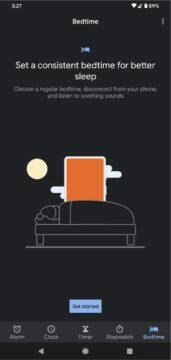 Google Hodiny Material You čas spánku