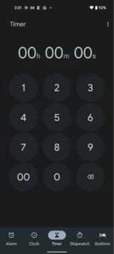 Google Hodiny Material You časovač číselník