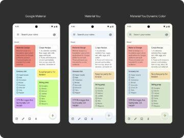 Google Keep a Material You