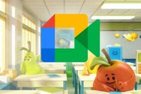 Google Meet videohovory animovaná pozadí