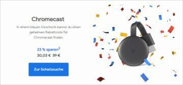 Google Německo narozeninové slevy Chromecast