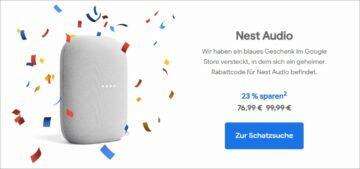 Google Německo narozeninové slevy Nest Audio