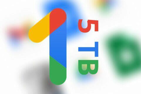 Google One nový tarif 5 TB