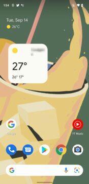 google počasí