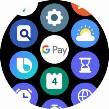 hodinky Samsung Galaxy Watch4 Wear OS Google Pay karta NFC platby ikona