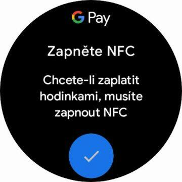 hodinky Samsung Galaxy Watch4 Wear OS Google Pay karta NFC platby NFC