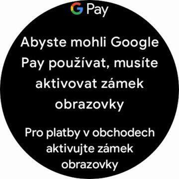 hodinky Samsung Galaxy Watch4 Wear OS Google Pay karta NFC platby zámek