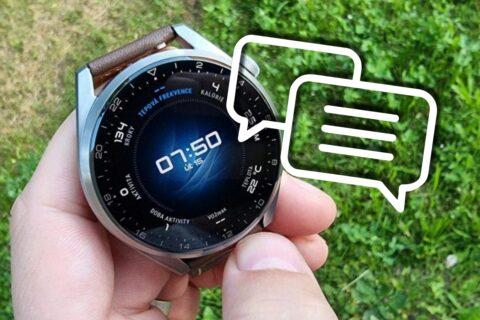 Huawei Watch 3 odpovídání na zprávy probouzení aktualizace