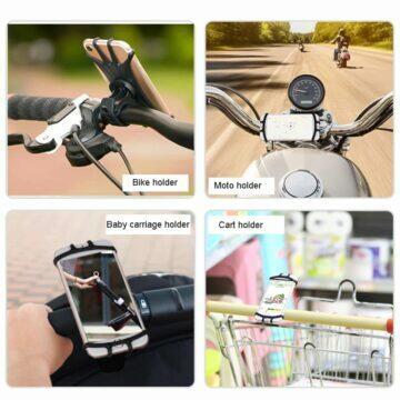 Levný silikonový držák mobilu na kolo motorku kočár