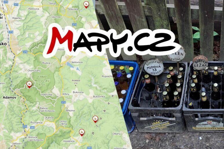 Mapy.cz lesní bary